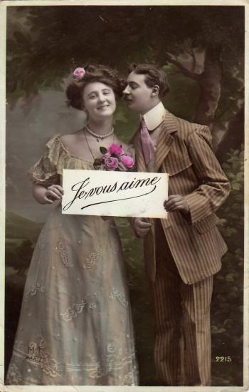 3821040001 6526eeb4c3 b 350x550 Влюбленные пары. Старинные фото и открытки