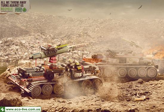 Ecological Movement of Venezuela tank 0 Экологическая социальная реклама против загрязнения