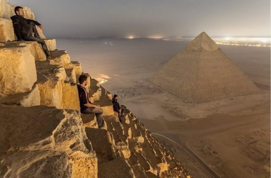 Vid s piramidy Heopsa 550x362 Египетские пирамиды