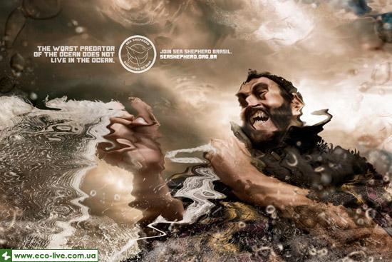 fishnet 0 Экологическая социальная реклама от eco live