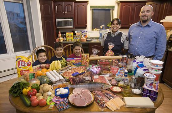 0 cf600 470c1330 orig 550x363 Еда семей в разных странах мира