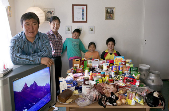 0 cf603 fa6b2b56 orig 550x363 Еда семей в разных странах мира
