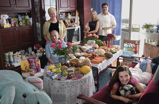 0 cf608 18cbeb14 orig 550x363 Еда семей в разных странах мира
