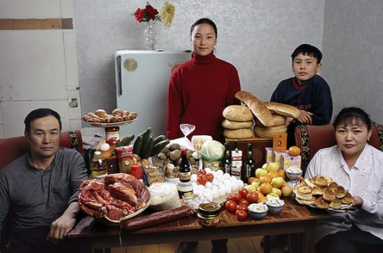0 cf60b fdddbc8b orig 550x363 Еда семей в разных странах мира