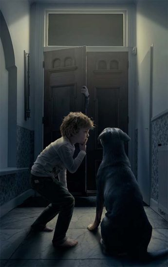 1362414062 adrian sommeling child home alone 345x550 Серия фотографий от Adrian Sommeling