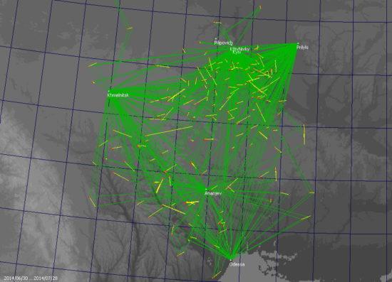 Foto 4Bazisnye meteory MeteorsUA 550x397 Август   месяц ливней звездных