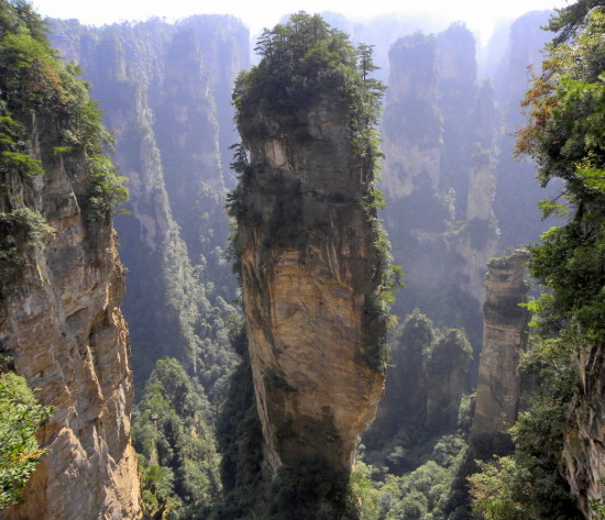 c4711036083fca061a96304753813251 DSCN1258 550x473 Национальный парк Чжанцзяцзе, Китай