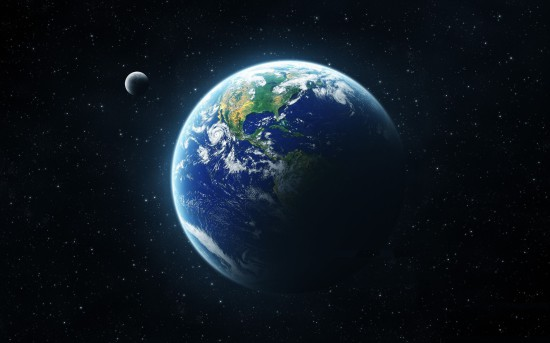 earth and moon from space 550x343 Люди! Это было бы смешно, если б не было так грустно...