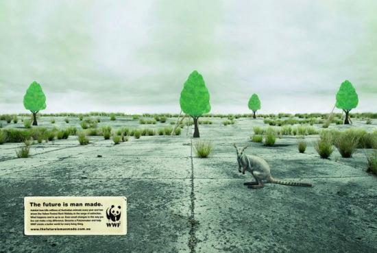 wwf 27 2 Плакаты от WWF   природа нуждается в рекламе. Будущее созданное человеком...