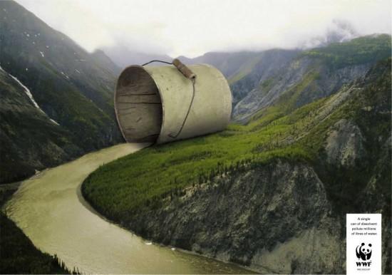 wwf 34 1 550x386 Социальная реклама о загрязнении воды