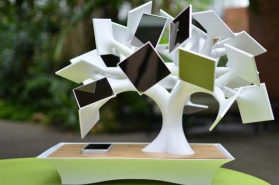 1407844088 electree solar charging bonsai tree 1 550x366 Electree – солнечное электрическое дерево бонсай