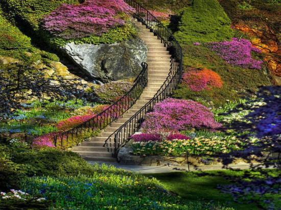 Butchart Gardens British Columbia Canada1 550x412 Ванкувер