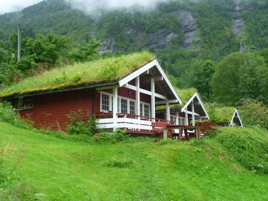 krysha iz torfa 550x412 Зеленые крыши и другие экопроекты Норвегии