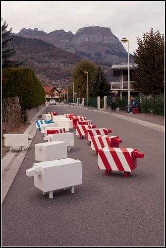 christophe machet traffic sheep 3 Швейцарские креативные изобретения