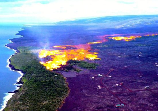 vulkan kilaujea 8 550x388 Национальный парк Гавайские вулканы