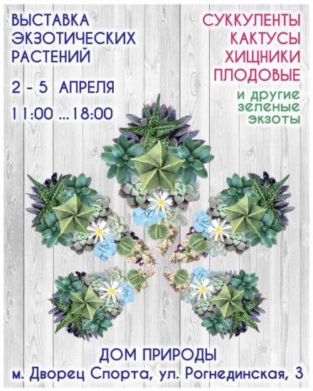 succulent show kiev 2 5aprelia 440x550 Выставка кактусов и других экзотических растений