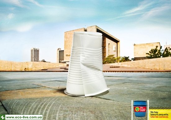 12   eco ads print 550 550x387 Экореклама о мелком мусоре