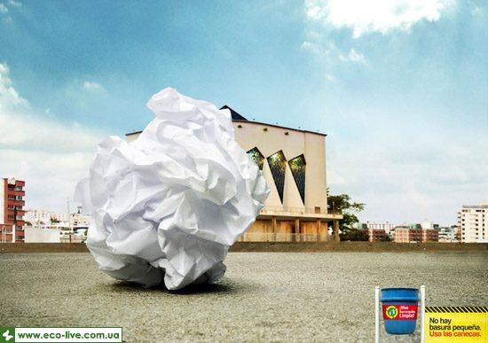 13   eco ads print 550 550x387 Экореклама о мелком мусоре