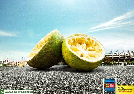 14   eco ads print 550 550x387 Экореклама о мелком мусоре
