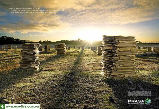 15   eco ads print 550 550x378 Экореклама о вторичной переработке бумаги