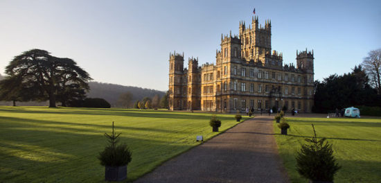 highclere castle 45357468 550x264 Настоящие замки Британии (2)