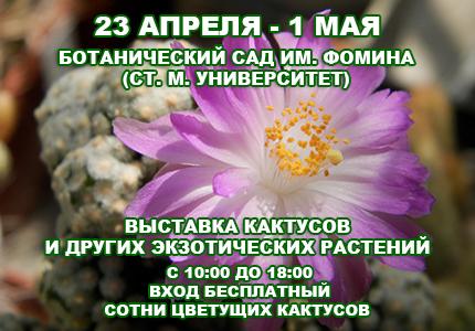 23 1 23 АПРЕЛЯ   1 МАЯ: ВЫСТАВКА КАКТУСОВ В КИЕВЕ
