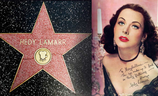 Hady Lamarr hollywood Walk of Fame 550x337 Многогранная Хеди Ламарр