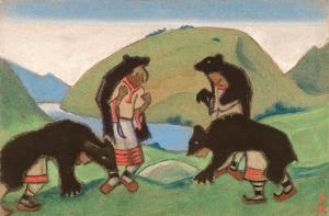 Elders in Bearskins Николай Константинович Рерих